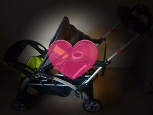 Sit n'stand double stroller