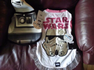 Two Brand New Star Wars Small Dog Costumes