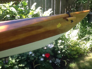Beautiful handcrafted cedar strip kayak