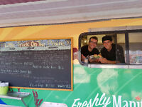 Food truck hiring prep cook, cashier and line cook.
