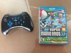 Divers WiiU: New Super Mario/30$ - Manette Pro/25$