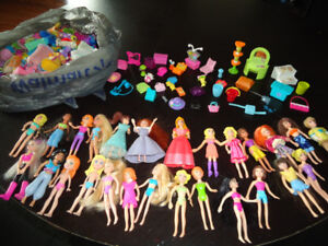 Huge Lot Polly Pocket dolls, clothes, houses, accessories