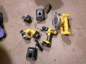 DEWALT Battery saw and drill