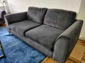 Navy/Grey Sofa - Seats 3 (2 Available)