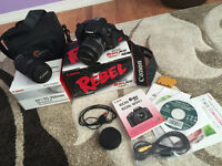 Canon EOS Rebel XS (1000D) + Lenses + Bag