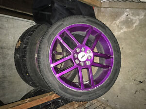 17 inch four bolt uni rims and tires
