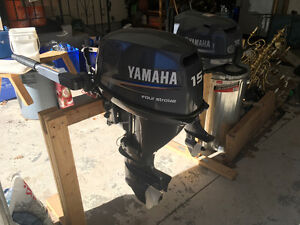 2006 15 hp Yamaha four stroke short shaft outboard