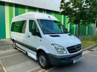 LHD LEFT HAND DRIVE MERCEDES SPRINTER 311 CDI AUTOMATIC 9 SEATER AC CLEAN VAN