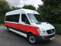 MERCEDES SPRINTER 313 CDI 163 TRAVELINER LWB 15 SEAT MINIBUS HIGH ROOF