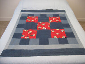 Denim & Flannel Cow Quilt Prince George British Columbia image 3