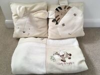 Mamas and Papas Zeddy and Parsnip range blanket and 2 cushions available
