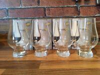 4 whisky glasses