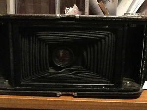 Antique Kodak Camera & Poster (Rare Set)