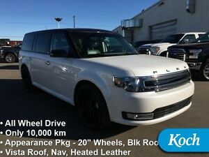 2016 Ford Flex SEL   Only 10K km, Nav, Pano Roof, BLIS, Leather