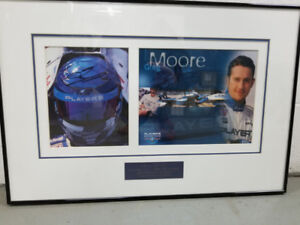 Greg Moore autographed framed picture
