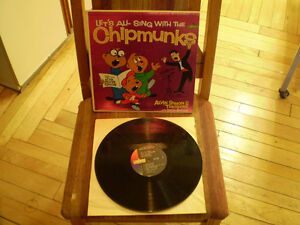 vinyl L et s all sing with the chipmunks with david seville