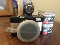 Lomography fish-eye lens camera for sale with rare Russian film