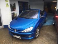 Peugeot 206 CC Full MOT+Service+cam Belt+Warranty all included,