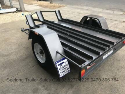 Brand New 6 x 4, 3 lane Bike trailer with Checker Floor @ 750 GVM North Geelong Geelong City Preview