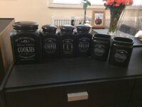 Tea, coffee, sugar jars