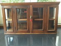 Beautiful Vintage 8 Sided Pine wall Cabinet