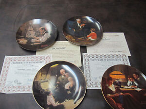 7 Norman Rockwell Plates
