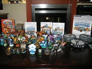 Skylanders Wii 3 games 47 figurines