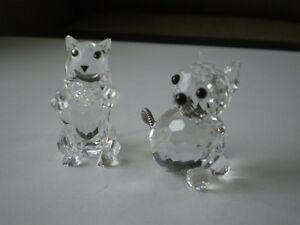 "Swarovski Crystal Figurines - "" Cats """