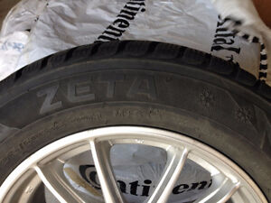 Zeta winter tires 215/60R16 with aluminum rims London Ontario image 2
