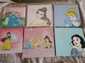 6 canvus disney princess pictures
