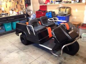 Colubia/Harley Davidson 3 wheeled golf cart for sale.