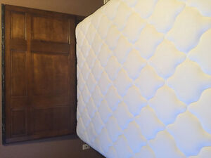 Beautiful mattress and box with bed frame and headboard for sale