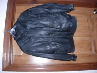 Mens lightweight motorcycle leather jacket