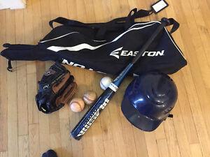 Rawlings Youth Glove, Bag, Bat and Helmet