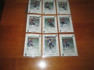 1992 quebec pee weepro BURLINGTON COMPLETED SET 18 CARDS