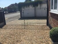 Metal driveway gates 6ft wide each. 4 ft tall