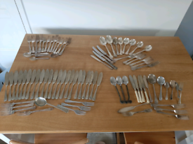Mixed nickel silver plate cutlery