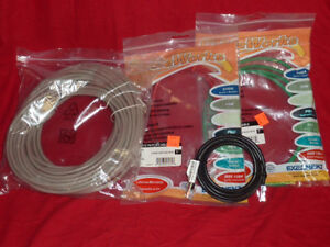 4 network cables - cagetory 5 wire. 100', 2x6', 1x4' - brand new