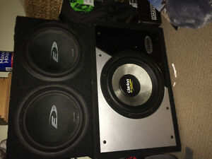 Subwoofers and amps cheap