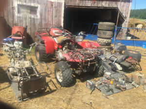4 wheelers and lots of parts