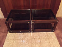 2 Only Vintage Solid Walnut End Tables