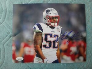 Elandon Roberts Signed New England Patriots 8x10 Photo With COA