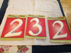 Plastic house number signs