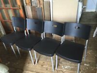 Ikea Herman stacking chairs for sale