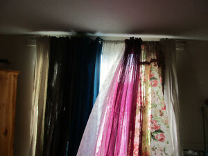 Various Curtains from Shears to Velvet - See Ad for Details