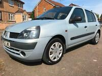 2002 RENAULT CLIO 1.4 16V Expression + 5dr Auto air con and sunroof