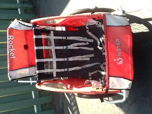 Chariot remorque 2 places rouge marque rocquet avec roue
