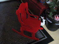 Little Wooden Red Rocking Chair