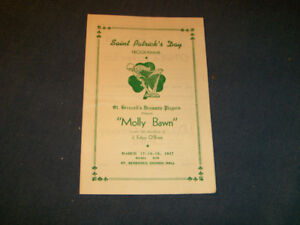 MOLLY BAWN-ST. PATRICK'S DAY PROGRAM-MONCTON, N.B.-3/1947