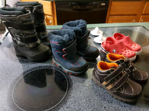 Boys shoes/boots lot size 4&5 toddler